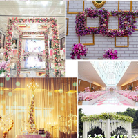 Wedding arch flower row floral artificial flowers wall wedding stage background Home decorative fake flower Commercial display