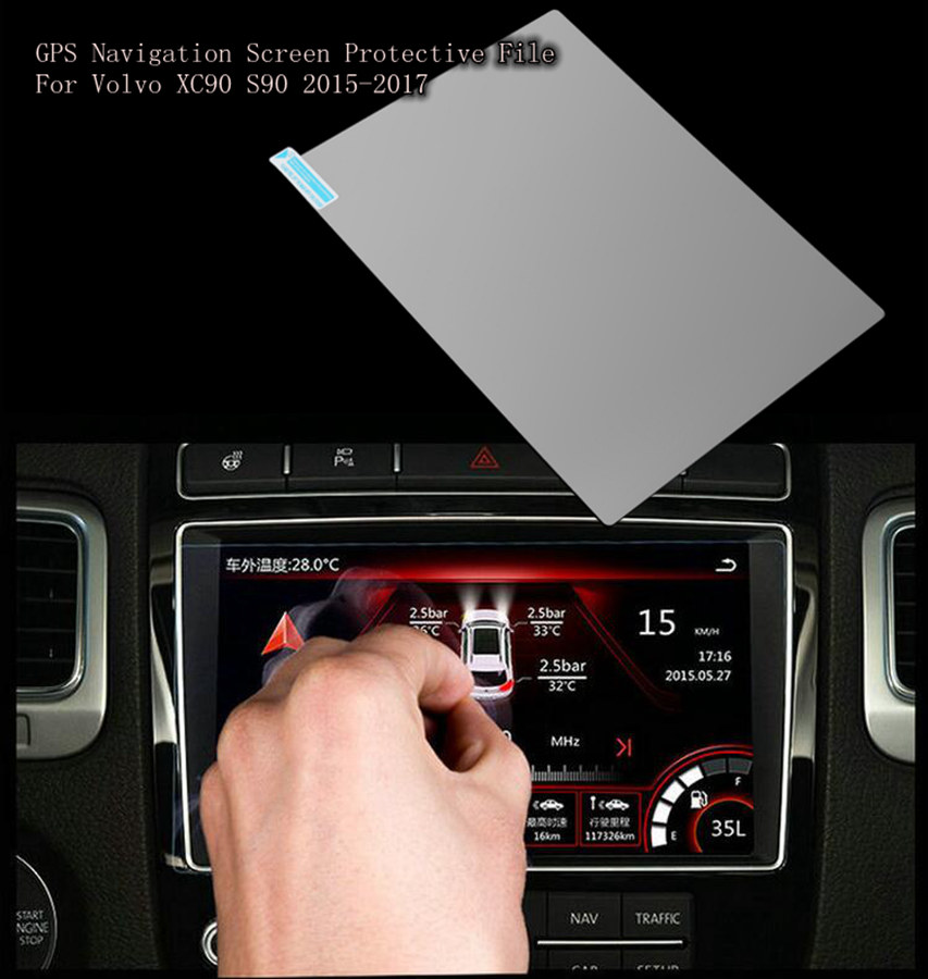 180*135mm Car GPS Navigation Screen Steel Protector HD Glass Sticker For Volvo XC90 S90 2015 2016 2017 Tempered Glass