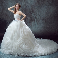 Luxurious Ruffles Dress for Wedding Party Expensive Bridal Gowns robe de mariage vestido de noiva curto 2018 Customize