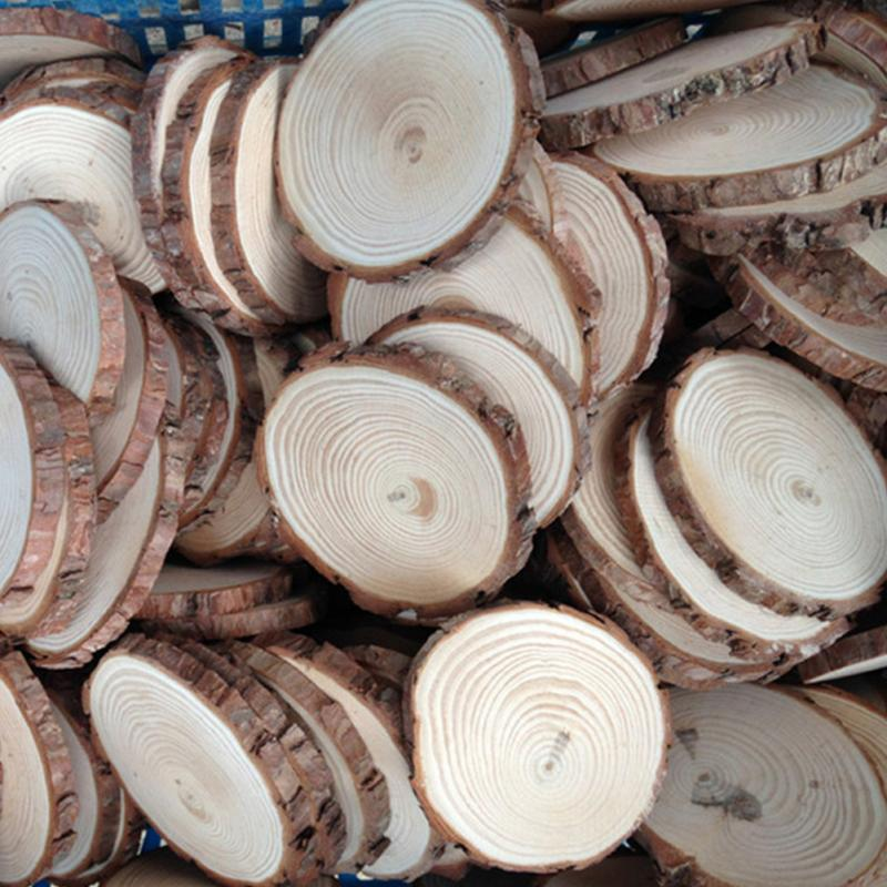 Image 4 - 30pcs Plain Wood Wooden Hearts Embellishment Blank Heart Wood Slices Discs Natural Wood Color Birch Tree DIY Crafts #125-in Party DIY Decorations from Home & Garden