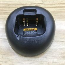 O único carregador base de mesa para motorola ct250 ct450 gp88s p040 p080 p308 pro3150 walie talkie para bateria pmn4018 ni-mh
