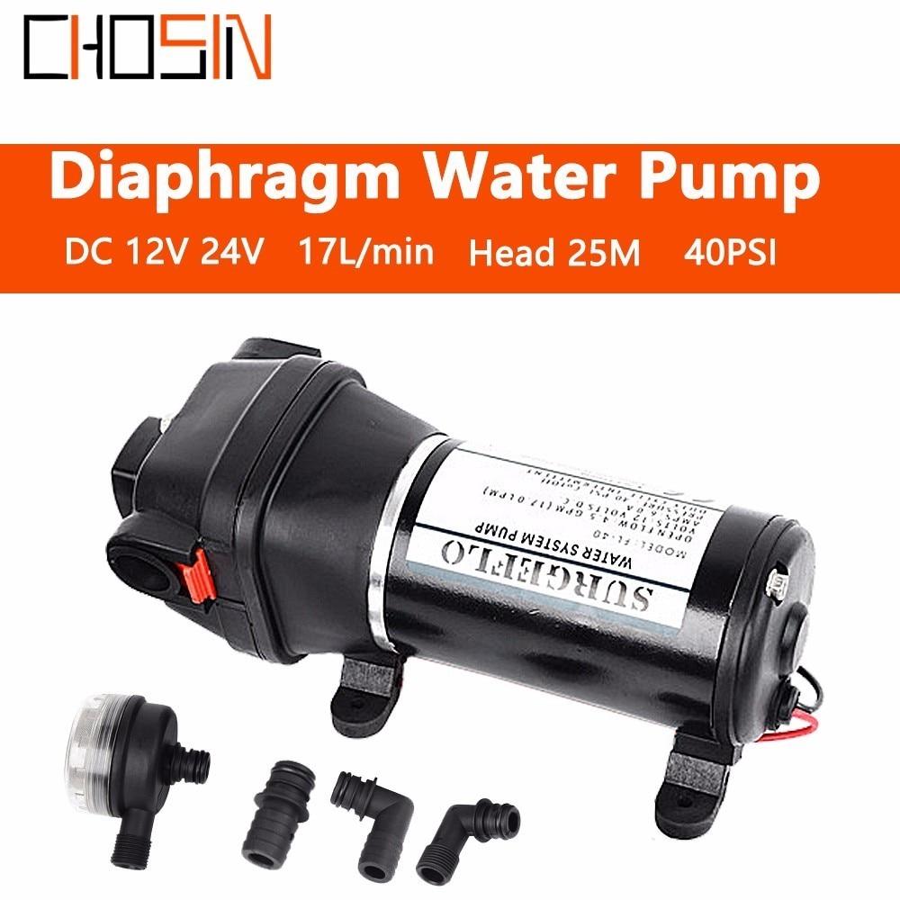 Fl 40 Fl 44 12v 24v Dc Low Pressure 40psi(2.8bar) Lift Max 25m Electric Diaphragm Pump Irrigation Motorhome Car Water Supply