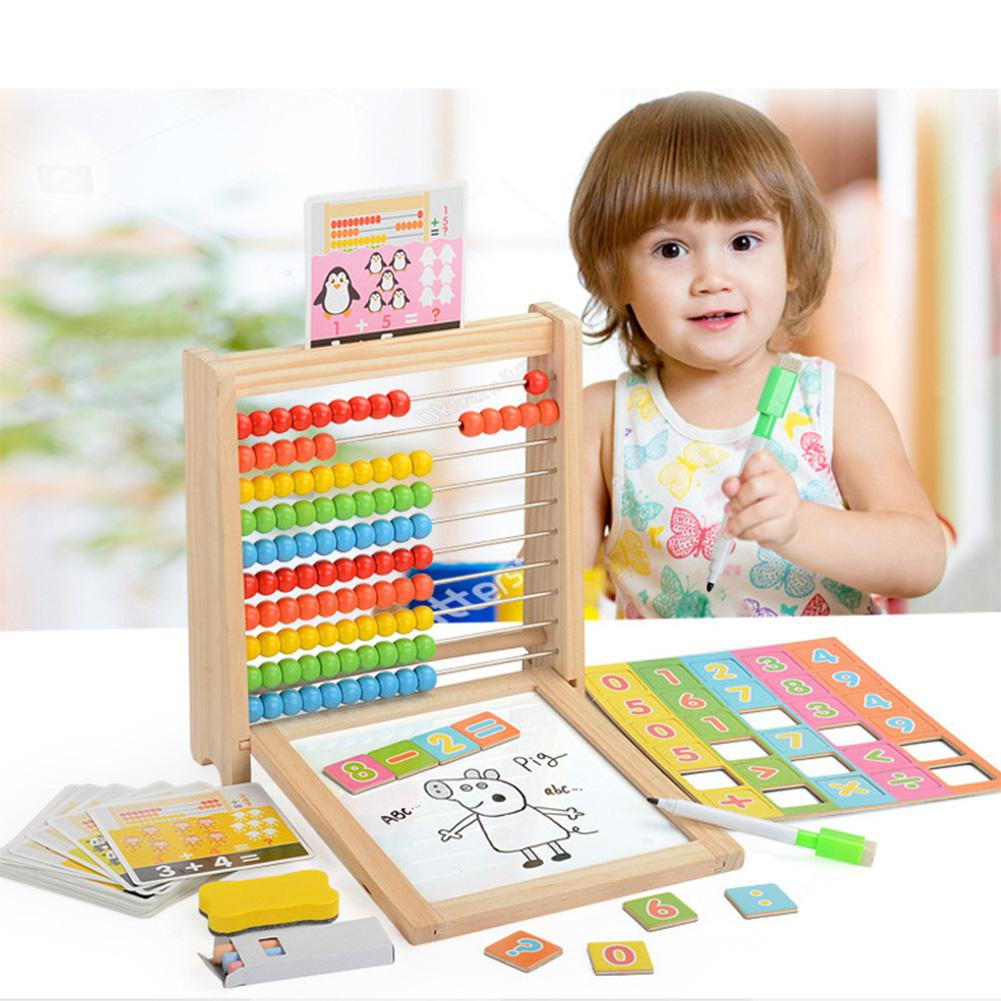 RCtown Kids Number Arithmetic Abacus Building Blocks Learning Educational Math Toy