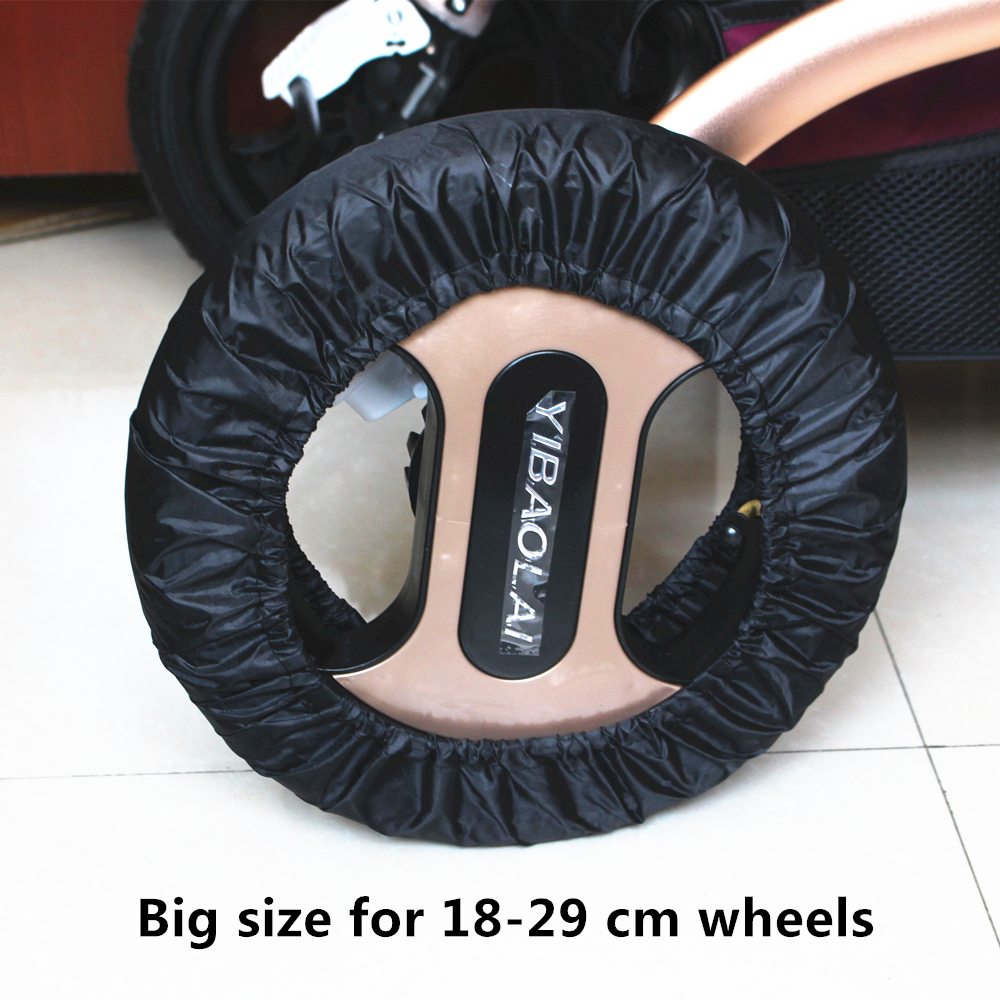 2Pcs Stroller Accessories Wheels Covers For 12-29 Cm Wheelchair Baby Carriage Pram Throne Pushchair Poussette