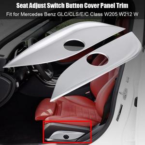2Pcs Seat Adjust Switch Button Cover Panel Trim for Mercedes Benz GLC/CLS/E/C Class W205 W212 W