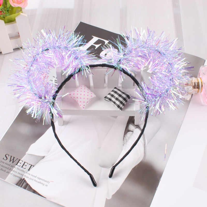 7 pièces/ensemble Laser gland oreilles femmes Grisl bandeaux coiffure scène Performance Photo bande de cheveux cerceau enfants cheveux accessoires