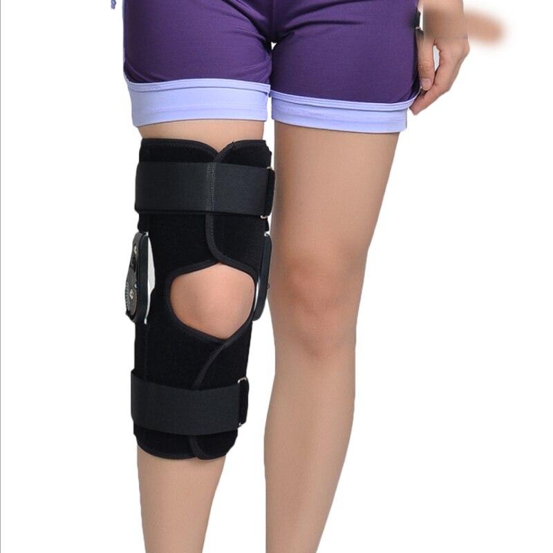 new Orthopedic Splint Osteoarthritis Knee Pain Pads Adjustable Medical Hinged Knee Orthosis Brace Support Ligament Sport Injury