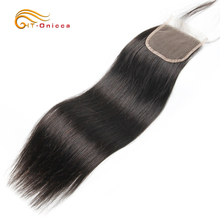 Onicca Hair Closure Brazilian Straight Lace Closure With Baby Hair Human Hair Lace Closure 4*4 Free Middle Three Part Non Remy