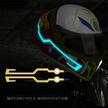 Motorcycle Helmet Light Strip Night Signal Luminous Modified light