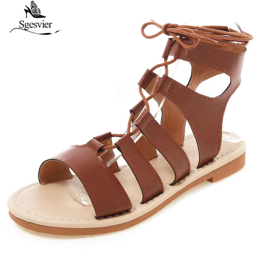 Sgesvier Women Bohemia Sandals Gladiator Flat Peep-Toe Cross Strap Sandals Shoes Roman Lace Up Sandals Plus Size 34-50 G311Sgesvier Women Bohemia Sandals Gladiator Flat Peep-Toe Cross Strap Sandals Shoes Roman Lace Up Sandals Plus Size 34-50 G311