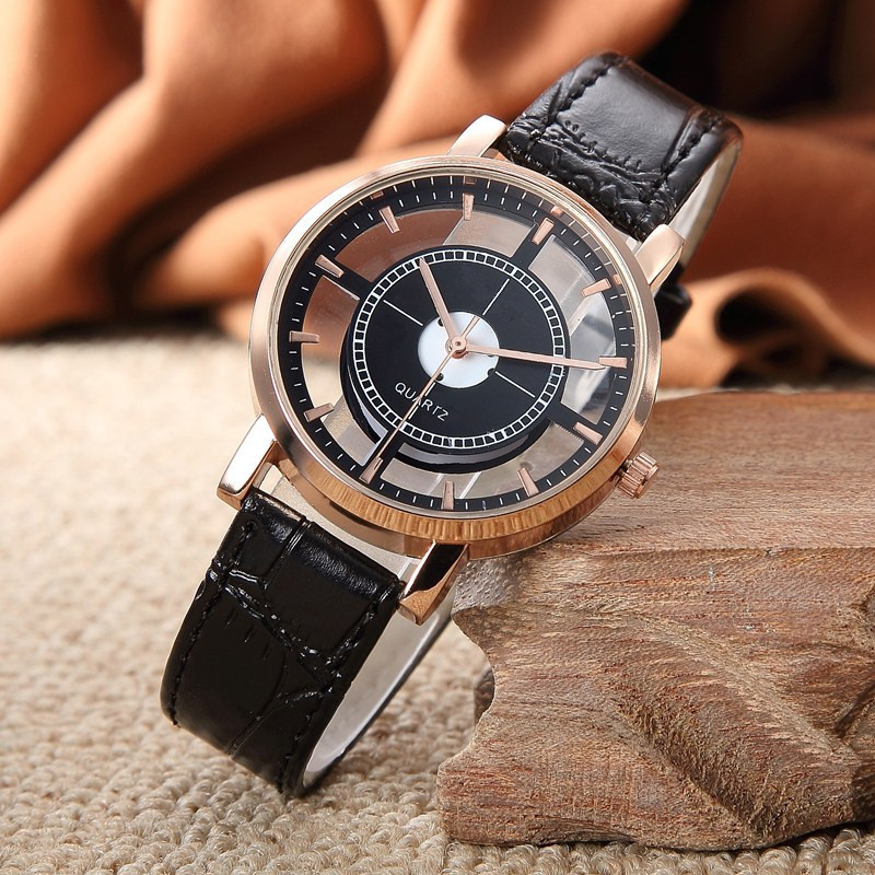 Men's Watch Female Cutout Belt Cool Students Fashion Simple Neutral Tide Men Couple's Quartz WatchWrist Watches Relogio Masculi