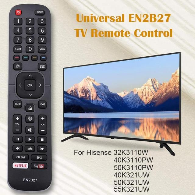 EN2B27 TV Remote Control Replacement for Hisense 32K3110W 40K3110PW 50K3110PW 40K321UW 50K321UW Useful Controller Home Supplier