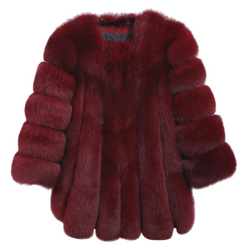 Hiver chaud manteau femme luxe fausse fourrure doux Long solide couleur manteau haute qualité taille M-4XL épais pardessus nouveau