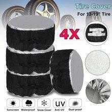 4 шт. Универсальный 13-19 16-20 дюймов Автомобильный внедорожный чехол для шин чехол для запасного колеса сумка для шин запасная сумка для хранения полиэфирная ткань Оксфорд