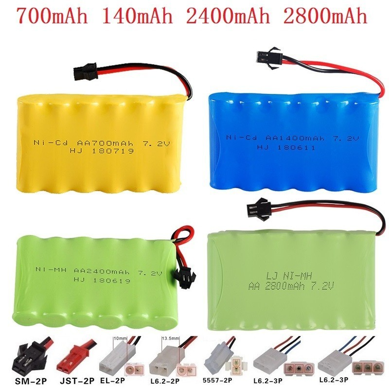 ( M Model ) 700MAH 1400MAH 1800MAH 2400MAH 2800MAH 7.2V Battery For RC Toys Cars Trucks Tank Guns RC TOYS 7.2v NIMH Battery NICD