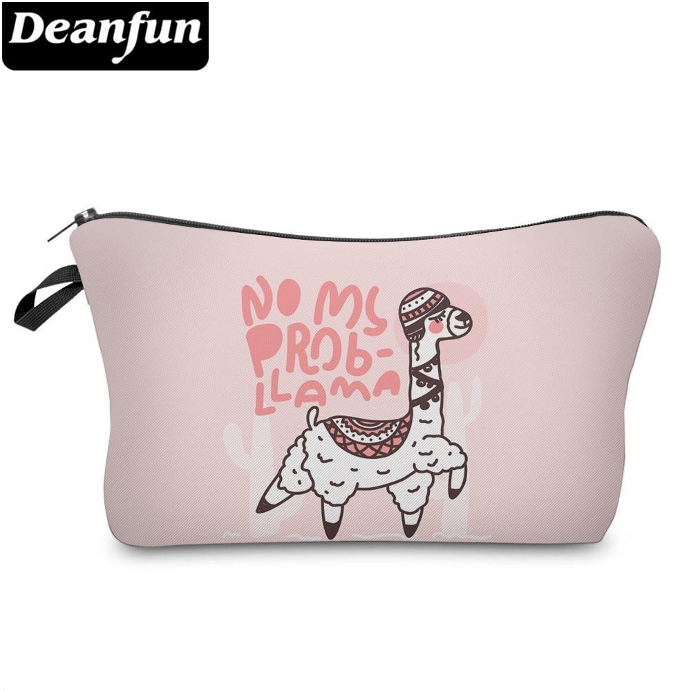 ac4bdad8540d Deanfun Waterproof Cactus Llama Prints Cosmetic Bag Roomy Light Pink Cute  Alpaca Makeup Bags Travel Gift Bags Dropshipping 51381