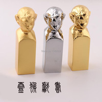 Fashion Chinese Zodiac Monkey Alloy Seal Stamps For Scrapbooking mascot Birthday gift for family