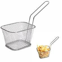 Stainless Steel Chef Basket Mini Fry Baskets Fryer Cooking French Fries Strainer Colander Tool