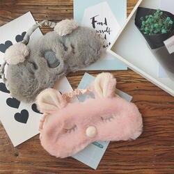 Милые животные спящий глаз маска для игрушки мультфильм завязанные глаза коала кролик глаз Рождество олень мягкий чехол девочка спящий