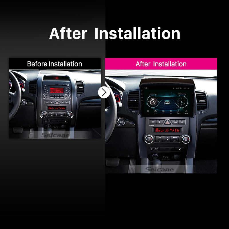 "Seicane 2din 2.5D شاشة 10.1 ""أندرويد 8.1 رباعية النواة سيارة نظام صوت للتنقل باستخدام جهاز تحديد المواقع ل 2009 2010 2011 2012 كيا سورينتو دعم TPMS"
