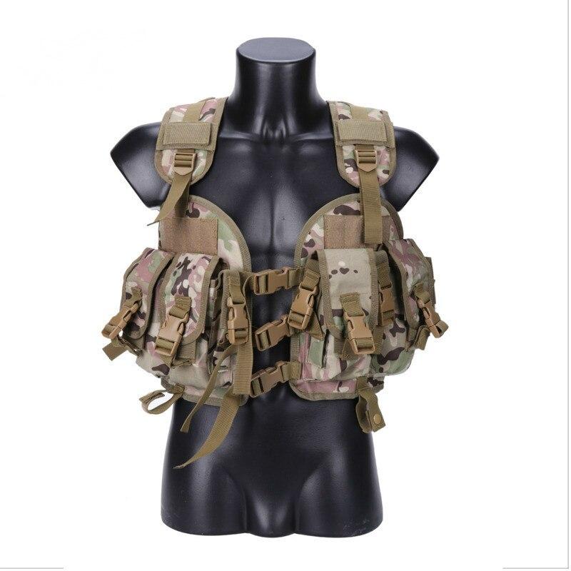 Extérieur chasse Ciras tactique militaire Airsoft gilet plaque transporteur déchargement poitrine Plate-forme sac Molle Camping voyage Sport Trecking 2