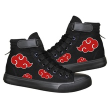 Anime Cosplay Naruto Canvas Lace Up Black Shoes Uchiha Itachi Akatsuki Casual Plimsolls Canvas Rope Soled Shoes Unisex все цены