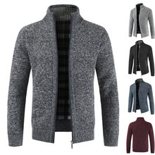 2018 Men S Sweaters Autumn Winter Warm Cashmere Wool Zipper Cardigan  Sweaters Man Casual Knitwear Thick Knitted Cardigan f1500c569d64