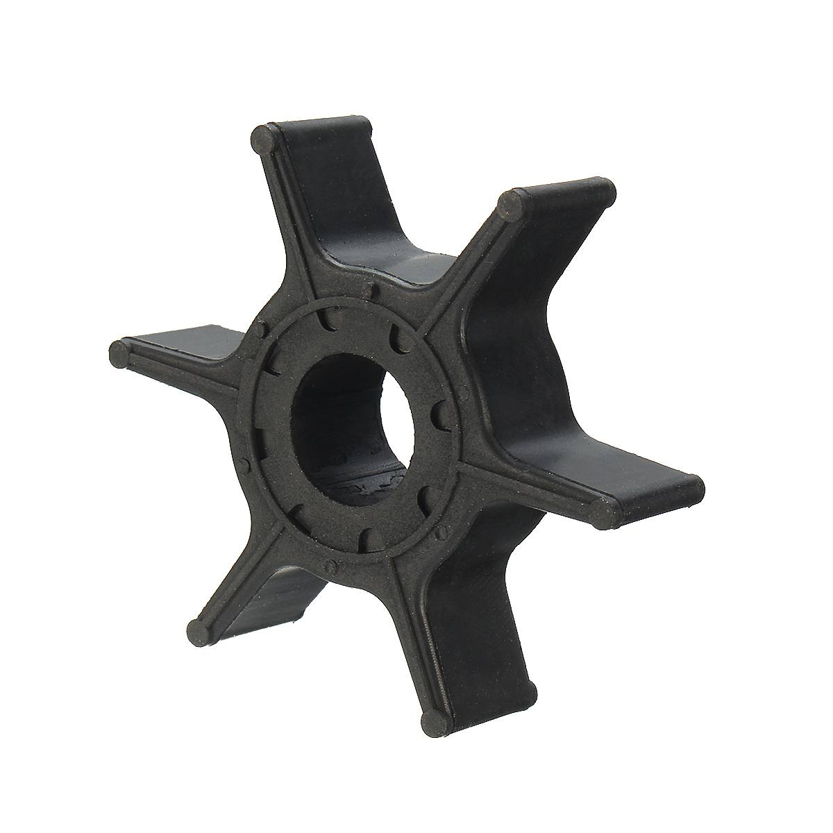 Water Pump Impeller For Yamaha 8HP 9.9HP <font><b>15HP</b></font> 20HP <font><b>Outboard</b></font> <font><b>Motor</b></font> 63V-44352-01 Black Rubber 6 Blades Boat Parts & Accessories image