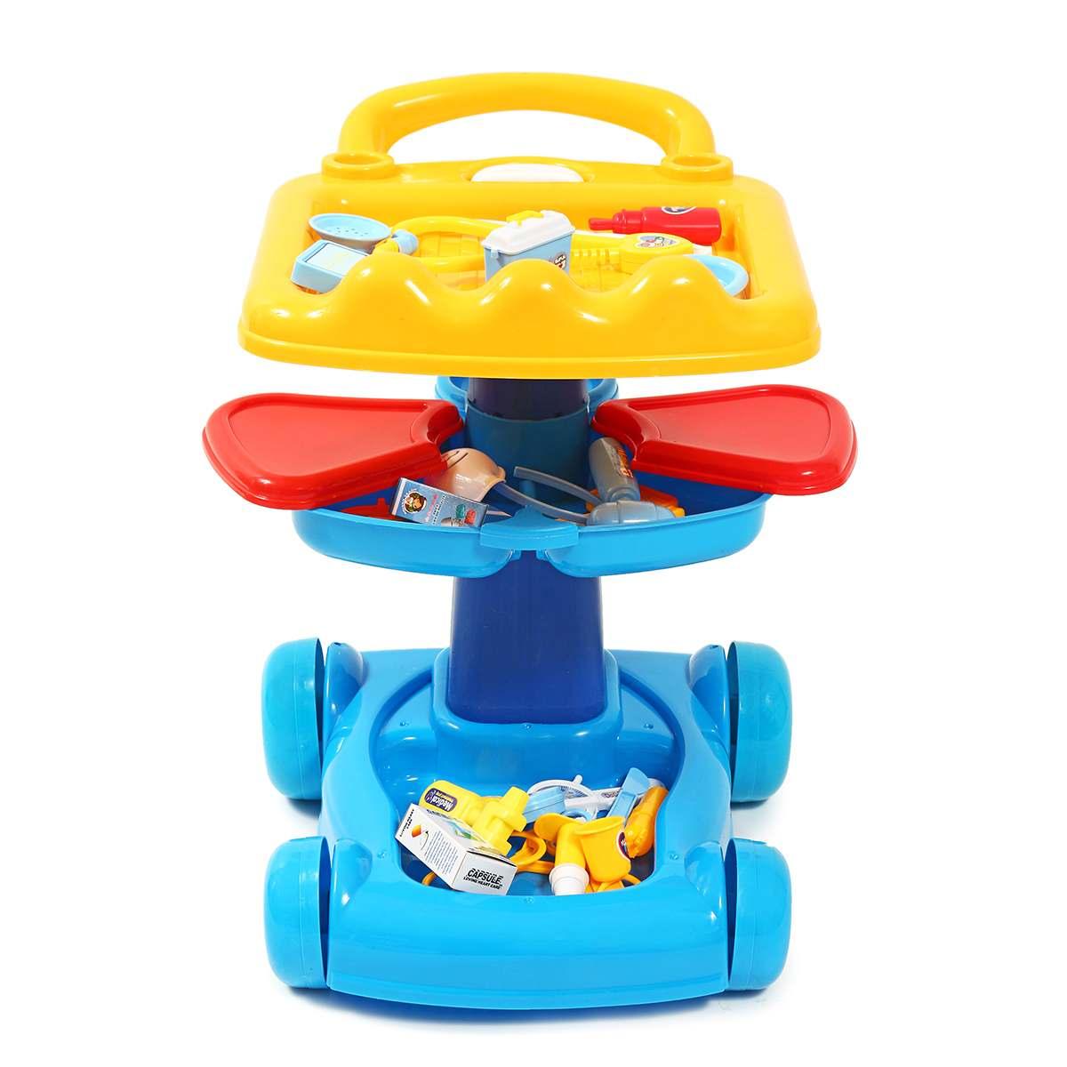 Plastique semblant jouer docteur jouets éducatifs semblant jouer chariot jouets infirmière jouets médicaux Kit hôpital Vocation jeu de rôle