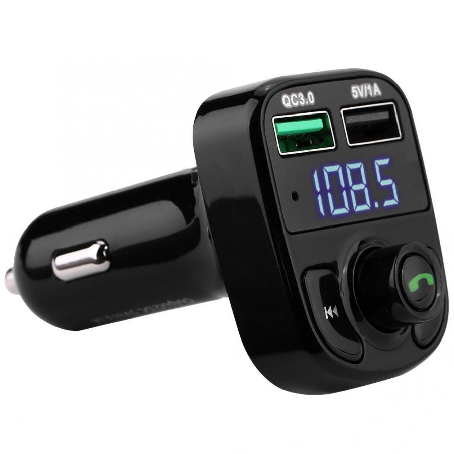 2019 New Noise Cancelling Bluetooth FM Transmitter Car Charger Dual USB Car FM Transmitter Charger usb