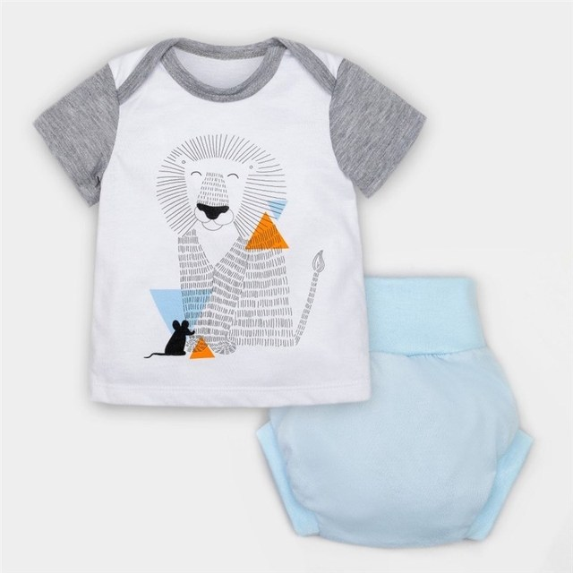 "Комплект: футболка и трусы под памперс Крошка я ""Сафари"""