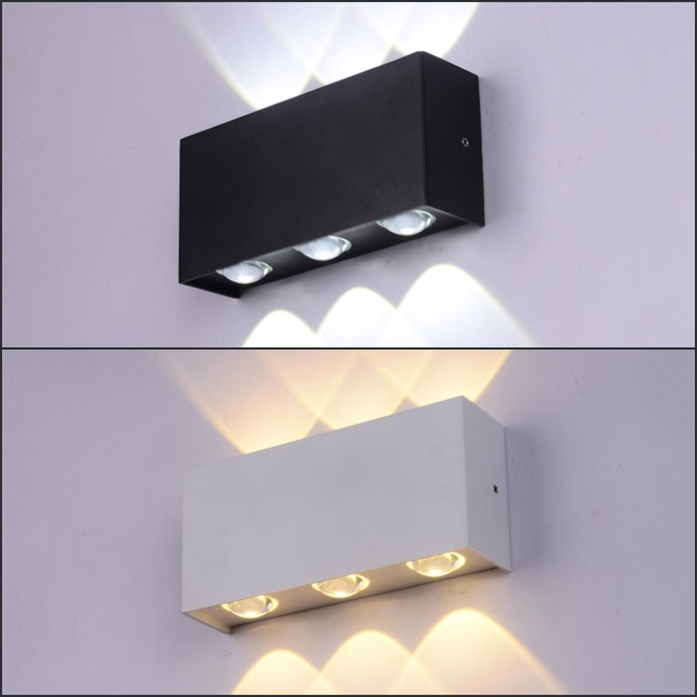 NEW LED Wall Light 6W Waterproof Die-cast Aluminum IP65 Modern Lamp