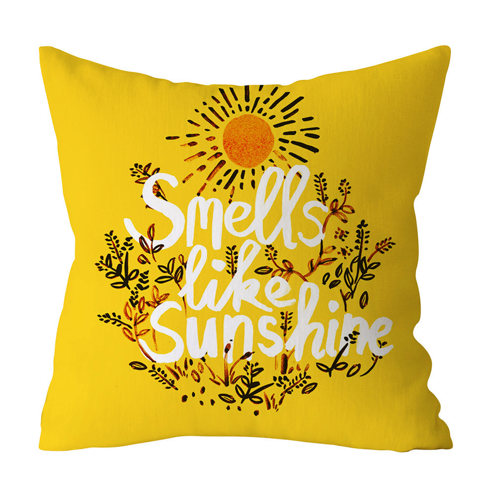 Fashion Polyester Geometric Cushion Yellow Pineapple Pillow Decorative Cushion For Sofa Diy Printed Pillow Seat Chair Fashion Polyester Geometric Cushion Yellow Pineapple Pillow Decorative Cushion For Sofa Diy Printed Pillow Seat Chair Cushion