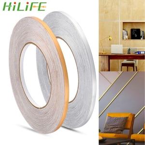 HILIFE Home Decor 50x0.05m Gap Sealing Foil Tape Waterproof Gold Silver DIY Copper Foil Strip Wall Sticker Floor Seam Sticker(China)