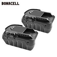 Bonacell 6000mAh 18V Li ion Rechargeable Power Tool Battery for RIDGID R840083 R840085 R840086 R840087 Series AEG Series L30