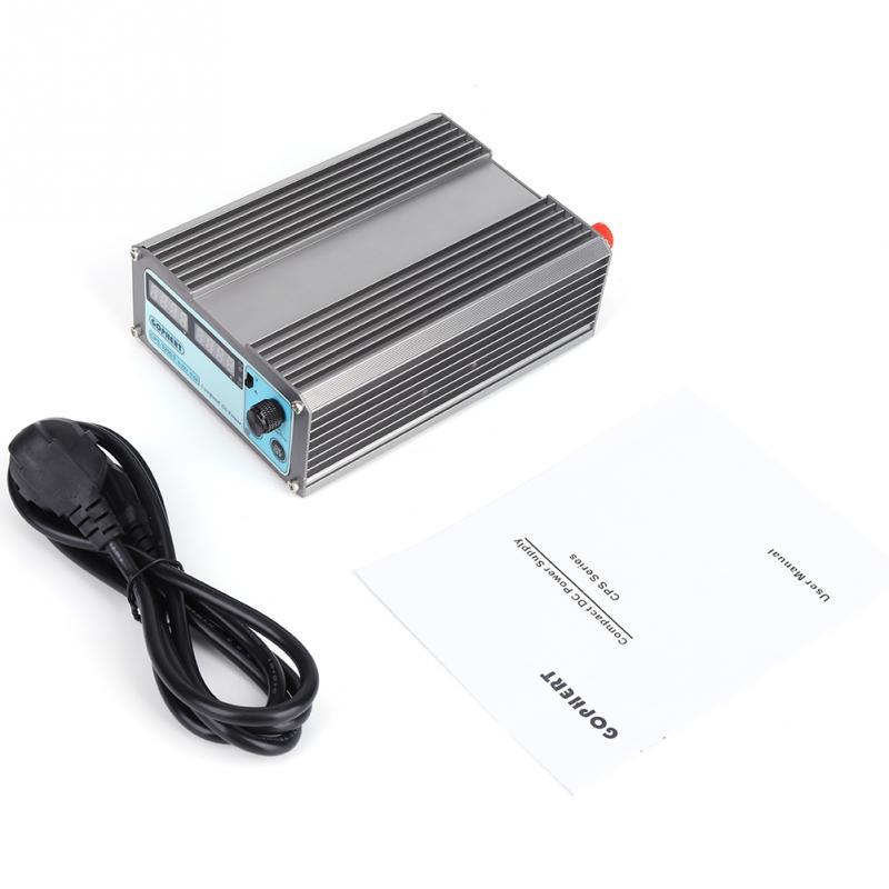 Adjustable DC Power Supply 220V Digital Display Mini Variable with Plug EU plug 45 65HZ 0