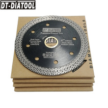 DT-DIATOOL 5pcs/set  4 4.5 or 5inch Hot pressed Cutting Disc Diamond Cutting Wheel Mesh Turbo Saw blades for Tile Marble 5pcs diameter 4 5 hot pressed sintered mesh turbo diamond saw blade dry or wet cutting disc 115mm diamond wheel hard material