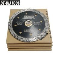 DT DIATOOL 5pcs/set 4 4.5 or 5inch Hot pressed Disc Diamond Cutting Wheel Mesh Turbo Saw blade Dia 115mm 125mm Hard materials