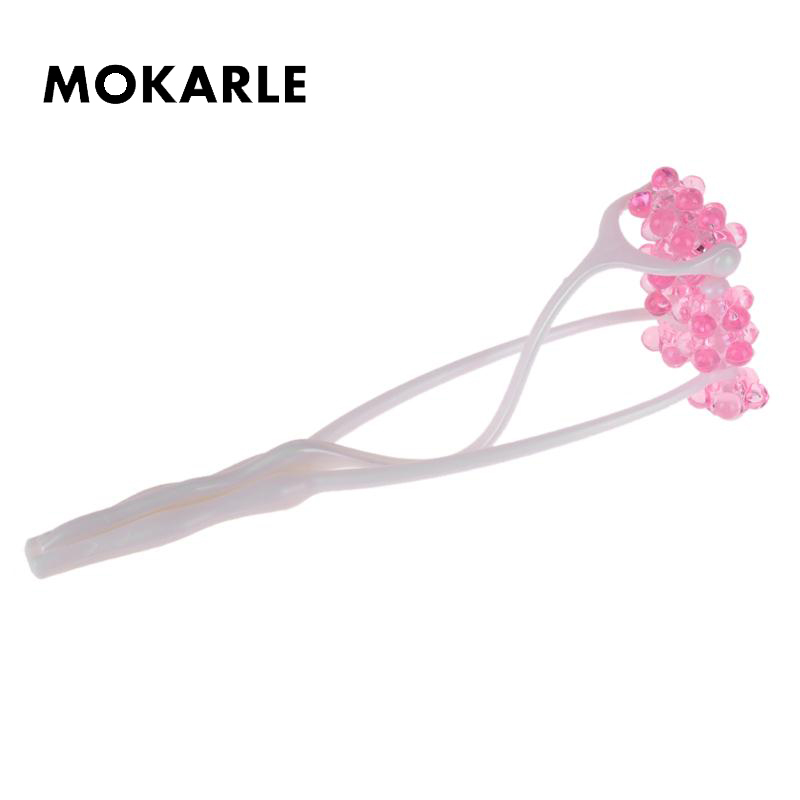 Portable Double Roller Face Massager Flower Shape Health Beauty Massager Slimming Firming Massager Massage Tools Physiotherapy