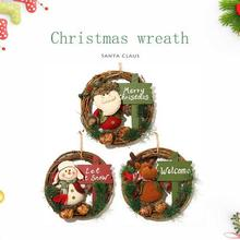 Christmas wreath round Handcrafted New Year Elegant Holiday Wreath Door Wall Garland Decoration