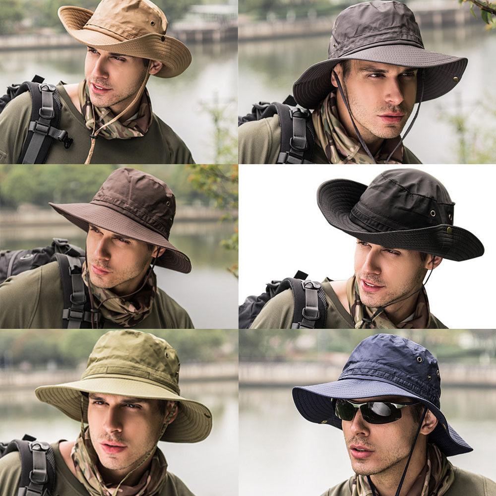 fbf39d7ecfb1d Detail Feedback Questions about Fashion Men Bucket Hats Boonie Bucket Hat  Cap Fishing Hunting Safari Summer Men Sun Hat Fisherman s Hat on  Aliexpress.com ...