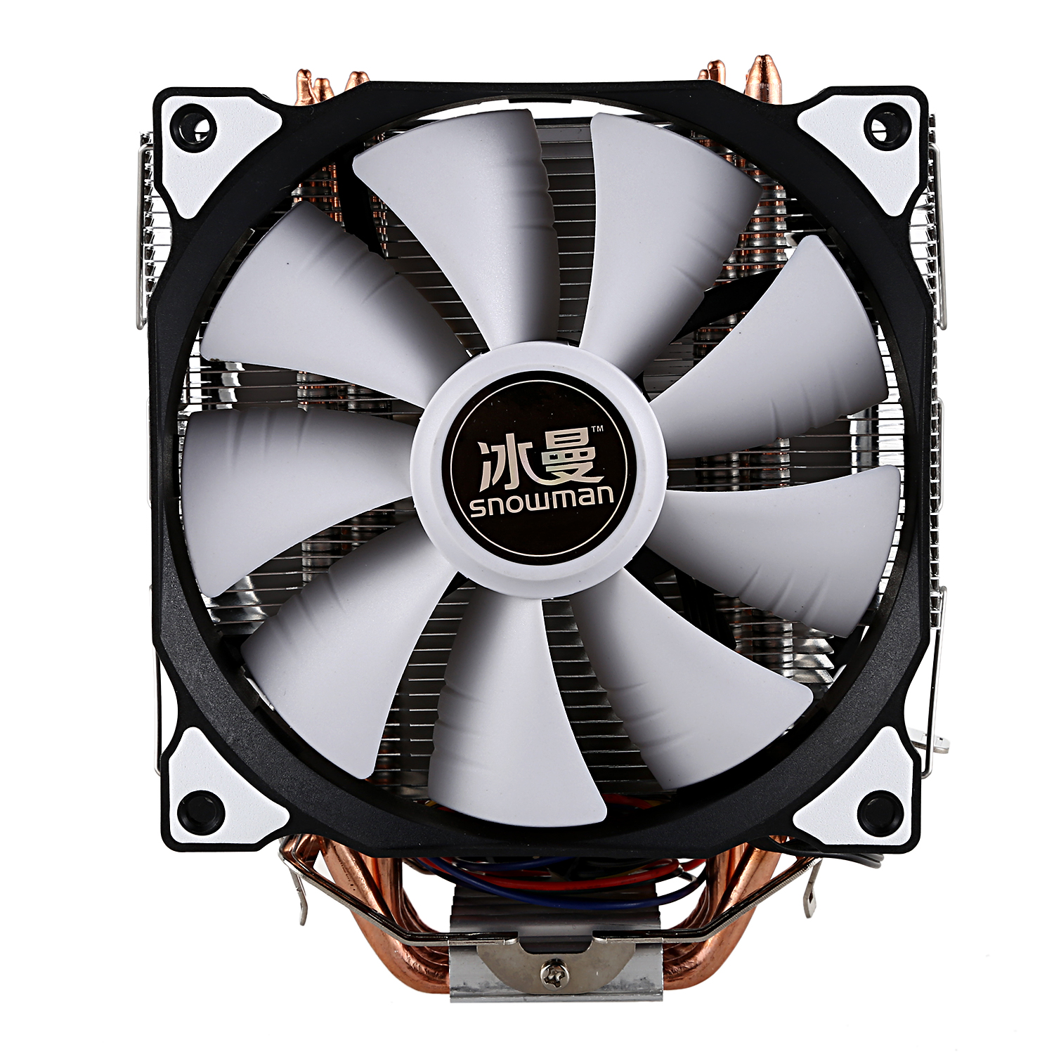US $20 21 16% OFF|SNOWMAN CPU Cooler Master 5 Direct Contact Heatpipes  freeze Tower Cooling System CPU Cooling Double Fan with PWM 2 Fans-in Fans  &