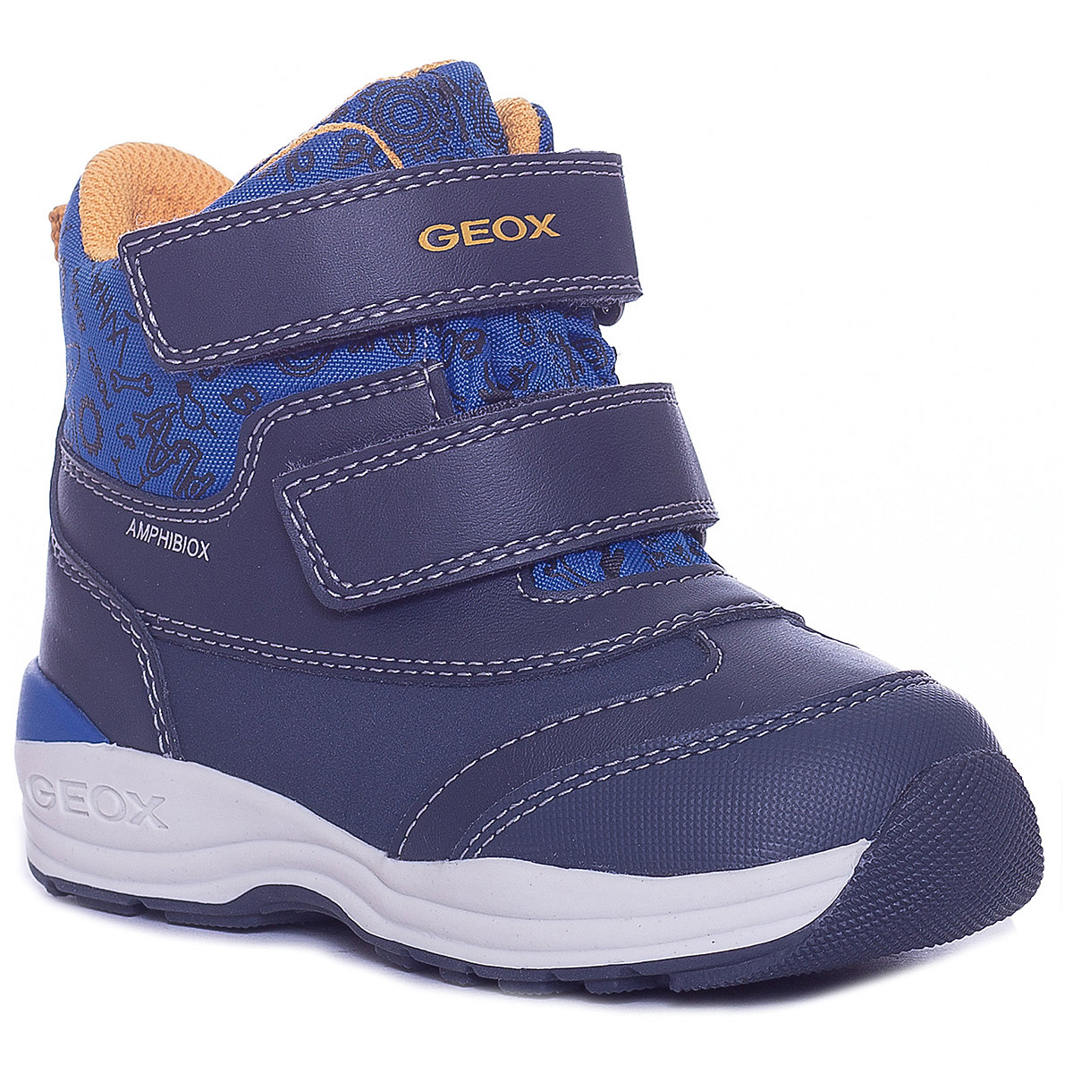 GEOX Boots 8786615 baby shoes For boy textile Winter child snow boots male shoes plus velvet child girls big boy baby winter boots ankle boots 2016 winter