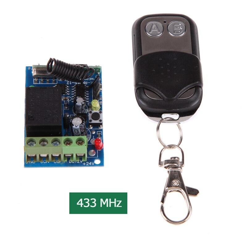 Novo Prático DC 12 V 433 MHz Controle Remoto Controle Remoto Sem Fio Interruptor de Controle Remoto Preto uzaktan kumanda para casa /carros