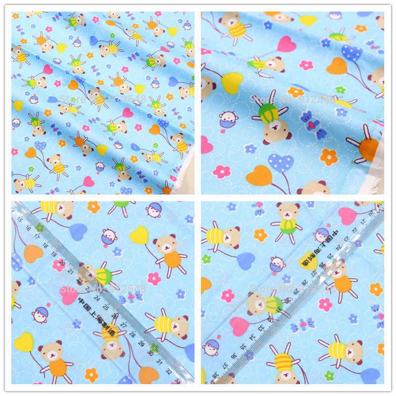 15121127, 50 см * 150 см, мультфильм медведь хлопчатобумажная ткань, diy проверка Лоскутная хлопчатобумажная ткань домашний текстиль, diy принадлежности для рукоделия