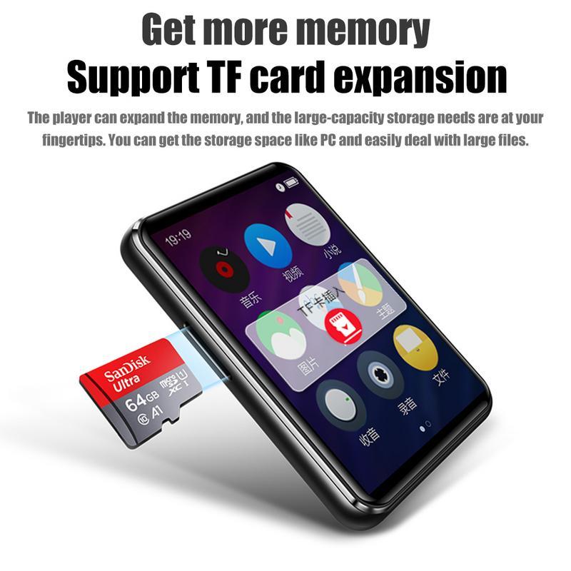 X6 MP3 étudiant MP4 lecteur écran tactile lecteur HiFi Super-mince e-book apprentissage anglais écoute Completa MP3