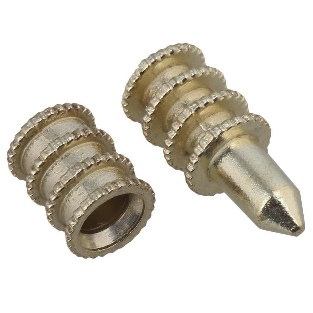 50pcs 8x20mm Gold Zinc Alloy Table Leaf Dowel Aligner Pin Sets Table Top Leaf Alignment Center Dowel Pins Wood Drill Power Tools