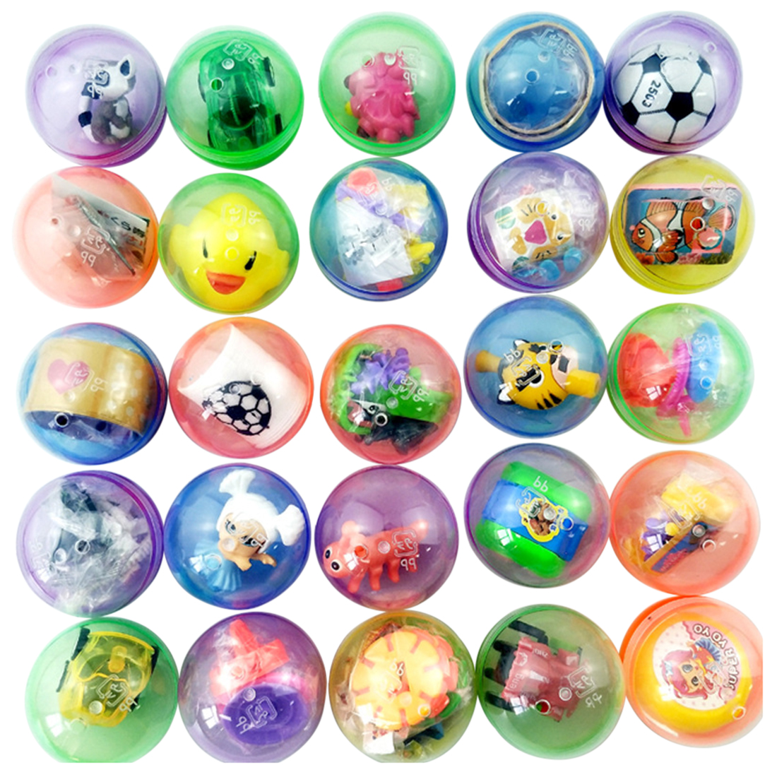 100Pcs 5cm Filled Easter Eggs Plastic Surprise Party Eggs For Easter Hunt - Random