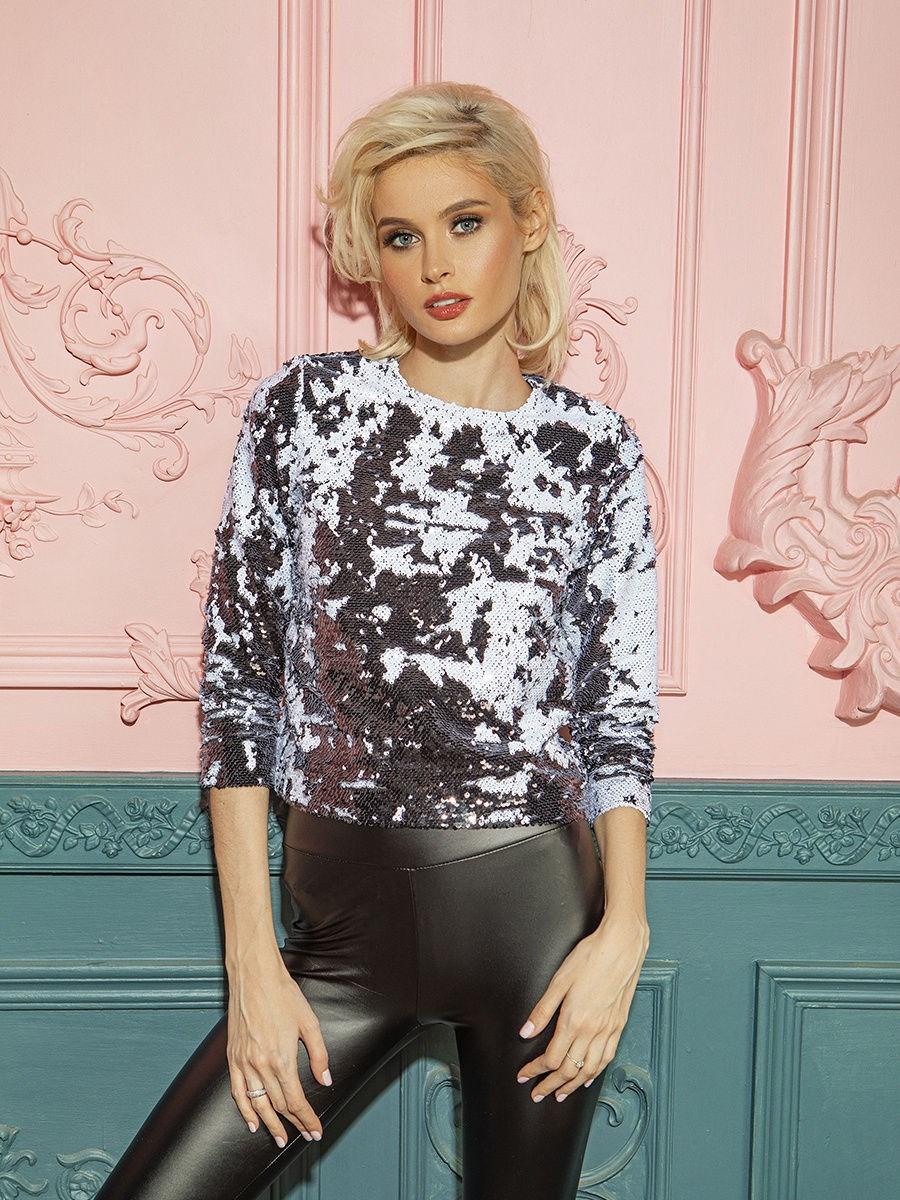 Top with sequins C.H.I.C female sequins