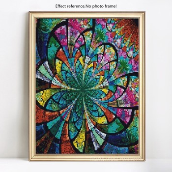 HUACAN Diamond Painting Mandala Diamond Embroidery Full Display Flowers Diamond Mosaic Sale Rhinestones Pictures